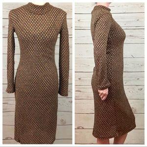 Zara Dresses - Zara Iridescent Embroidered Mock Neck Mod Dress